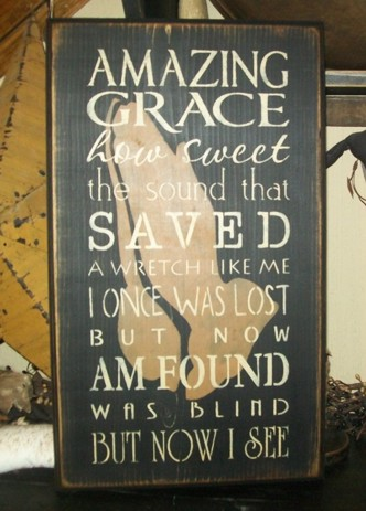 AMAZING GRACE TYPOGRAPHY PRIMITIVE SIGN SIGNS