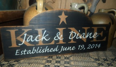 CUSTOM WEDDING ARCH PRIMITIVE SIGN SIGNS