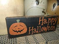 HAPPY HALLOWEEN HANGING SIGN BLACK