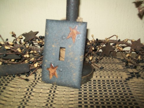 PRIMITIVE SINGLE STAR SWITCHPLATE BLACK