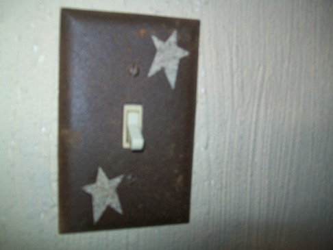 PRIMITIVE SINGLE STAR SWITCHPLATE BROWN