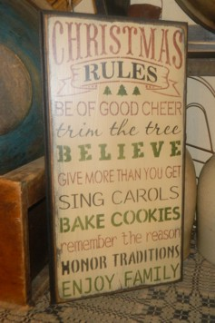 CHRISTMAS RULES TYPOGRAPHY PRIMITIVE SIGN SIGNS