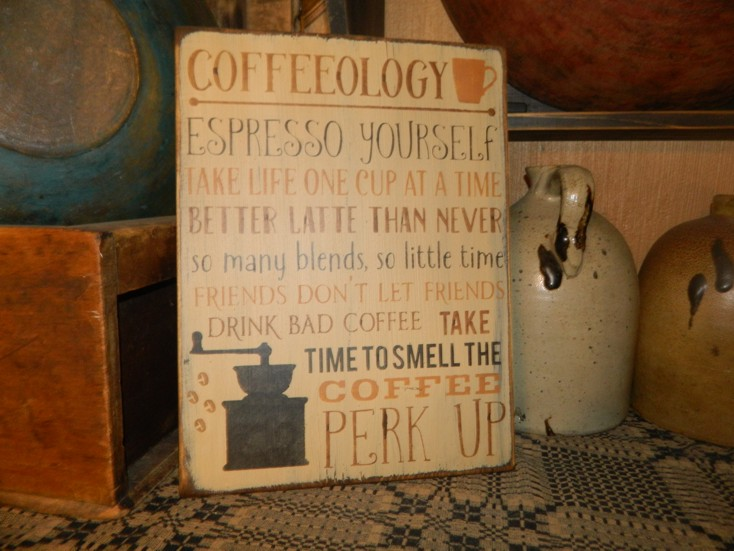 COFFEEOLOGY PRIMITIVE SIGN SIGNS