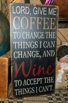COFFEE WINE TYPEOGRAPHY PRIMITIVE CUSTOM SIGN SIGNS