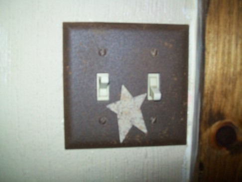 PRIMITIVE DOUBLE STAR SWITCHPLATE BROWN