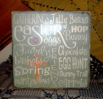 EASTER TYPOGRAPHY PRIMITIVE SIGN SIGNS
