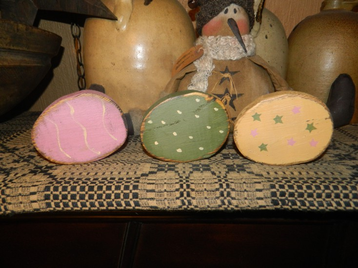 EASTER EGGS PRIMITIVE SIGN SIGNS