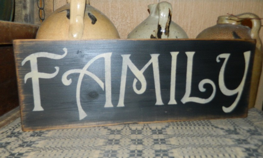 FAMILY PRIMITIVE SIGN SIGNS