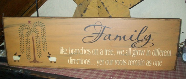 FAMILY....BRANCHES PRIMITIVE SIGN SIGNS