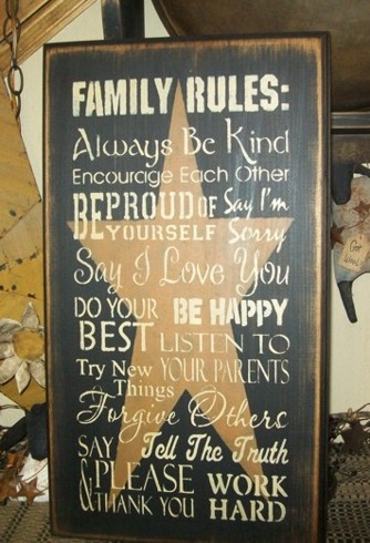 FAMILY RULES PRIMITIVE SIGN SIGNS