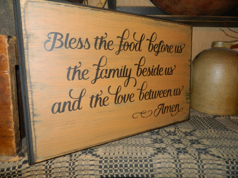 FOOD FAMILY LOVE PRIMITIVE SIGN SIGNS