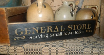 GENERAL STORE PRIMITIVE SIGN SIGNS