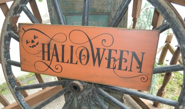 HALLOWEEN PUMPKIN PRIMITIVE SIGN SIGNS