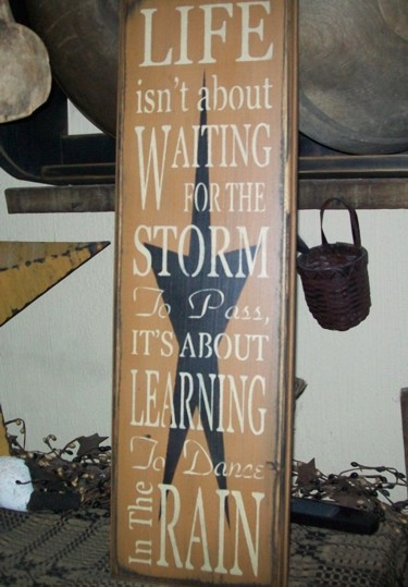STORM DANCE IN THE RAIN PRIMITIVE SIGN SIGNS