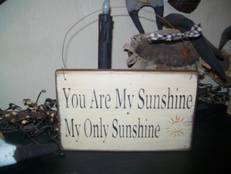 YOU ARE MY SUNSHINE MY LITTLE SUNSHINE HANGING SIGN