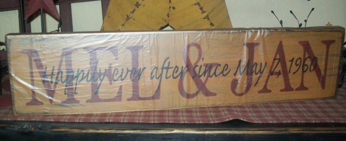 CUSTOM NAME LOVE DOUBLE PRIMITIVE SIGN SIGNS