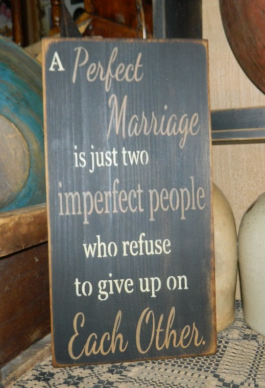 PERFECT MARRIAGE PRIMITIVE SIGN SIGNS