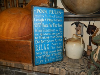 POOL RULES PRIMITIVE SIGN SIGNS