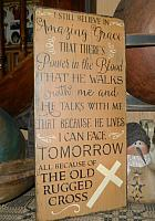 #20000 RUGGED CROSS PRIMITIVE SIGN EASTER SIGNS