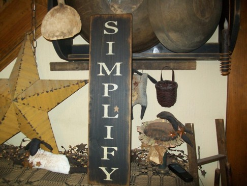 SIMPLIFY STAR VERTICAL PRIMITIVE SIGN SIGNS