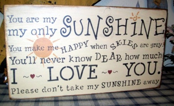 YOU ARE MY SUNSHINE  MY ONLY SUNSHINE PRIMITIVE SIGN SIGNS