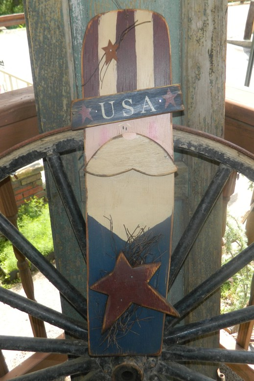 PRIMITIVE HANGING UNCLE SAM WITH STAR