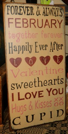 VALENTINE LOVE THYPOGRAPHY PRIMITIVE SIGN SIGNS