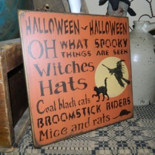 HALLOWEEN HALLOWEEN TYPOGRAPHY PRIMITIVE SIGN SIGNS