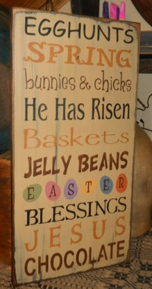 EASTER THYPOGRAPHY PRIMITIVE SIGN SIGNS