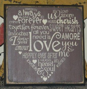 VALENTINE LOVE TYPOGRAPHY PRIMITIVE SIGN SIGNS