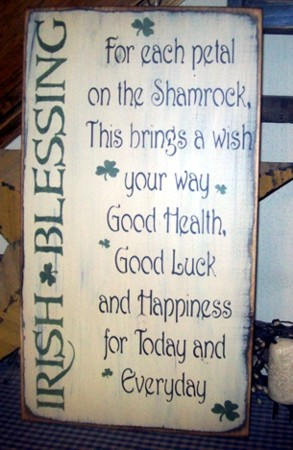 #1505 IRISH BLESSING PRIMITIVE SIGN SIGNS