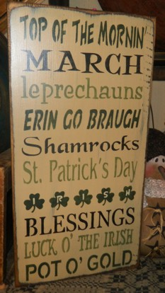 IRISH THYPOGRAPHY FALLS PRIMITIVE SIGN SIGNS