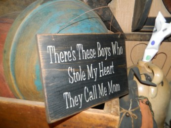 MOTHER SON HANGING SIGN