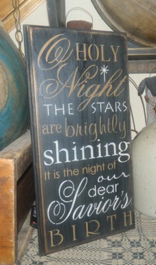 O'HOLY NIGHT TYPOGRAPHY PRIMITIVE SIGN SIGNS
