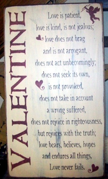 VALENTINE LOVE SAYING PRIMITIVE SIGN SIGNS